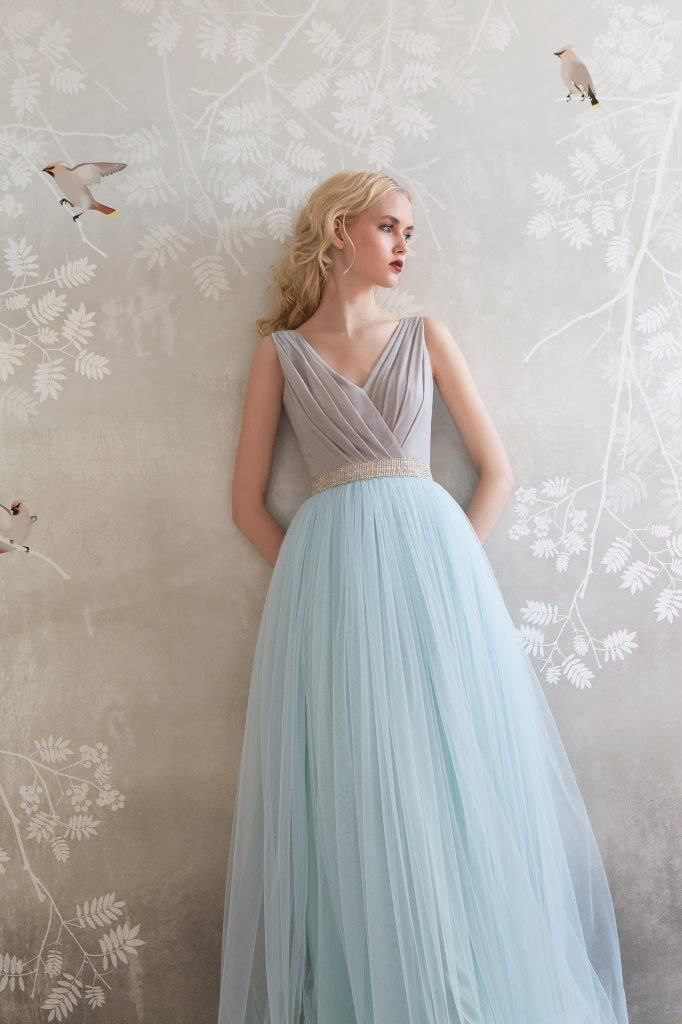 SADONI evening dress ZOE with jersey top and soft tulle skirt