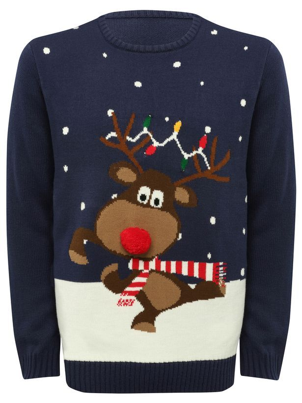 Reindeer light up Christmas jumper, £39 from M&Co