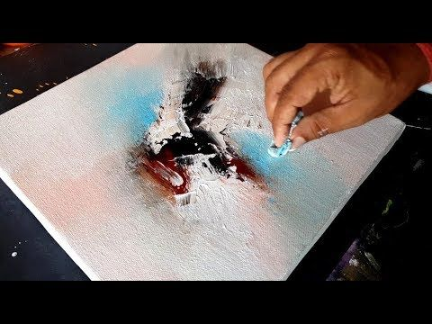 Abstract painting / Use of fabric and spatula in acrylics / Demonstration / Project 365 days / Day No. 018 – YouTube