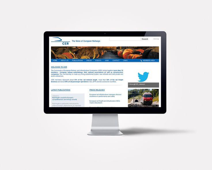Site internet de l'association européenne des chemins de fer, par double-id.com