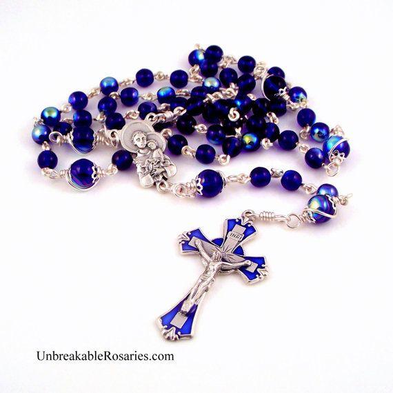 St. Anthony w Baby Jesus Rosary-Perlen In von unbreakablerosaries