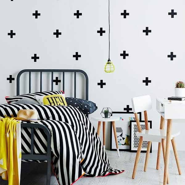 Cross Shape Wall Decal