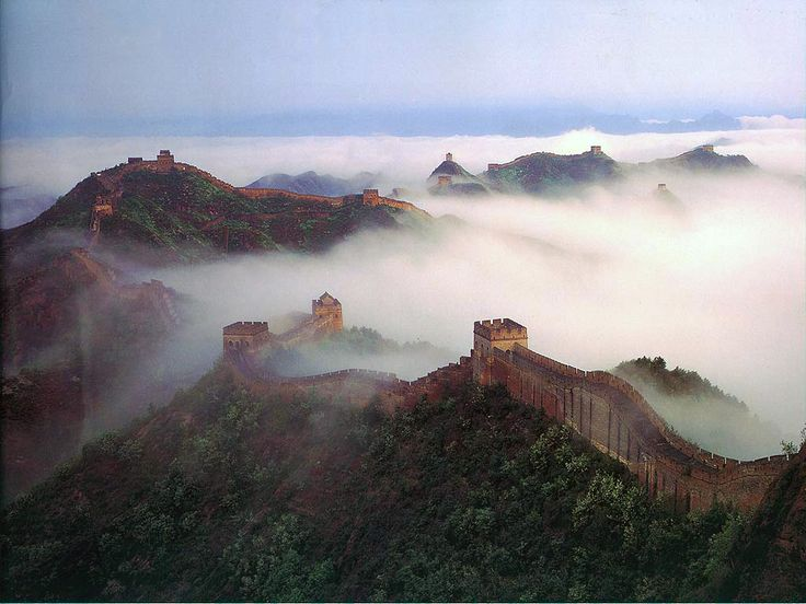 I want to walk along the Great Wall of China in the fog (fog is extra, the wall alone works, too)