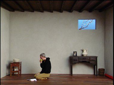 Catherine's Room, 2001  Bill Viola, Color video polyptych on five LCD flat panels mounted on wall
