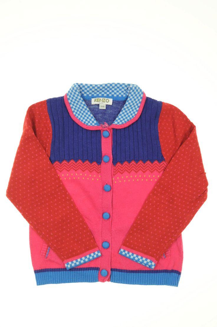 Gilet en maille de la marque Kenzo en taille 2 ans - Affairesdeptits vetement occasion enfant bebe pas cher