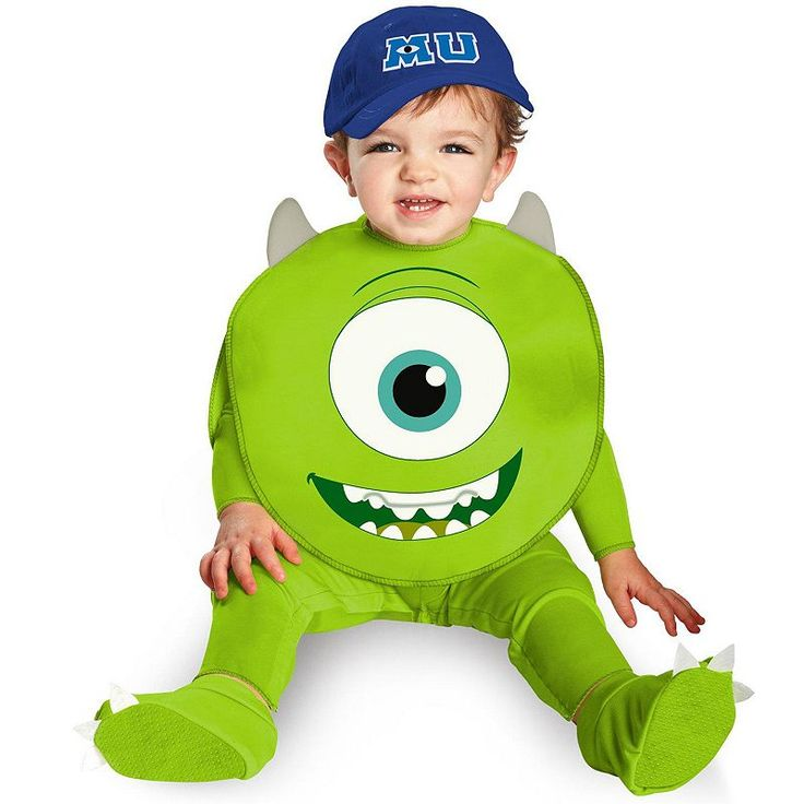 Disney / Pixar Monsters University Mike Costume - Baby, Infant Boy's, Size: 12-18MONTH, Green