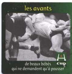 Heineken and rugby players: Heineken y los jugadores de rugby.