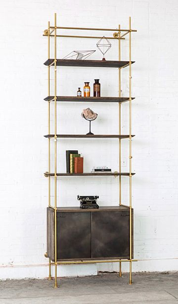 Amuneal collector's shelving system: Single Bay System with Credenza 36, from $4600