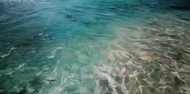 Zaria Forman paints with her fingers...WOW WOW WOW WOW WOW!!! Truly astounding! I've found my new desktop theme...it's truly inspiring. Love the Sea!