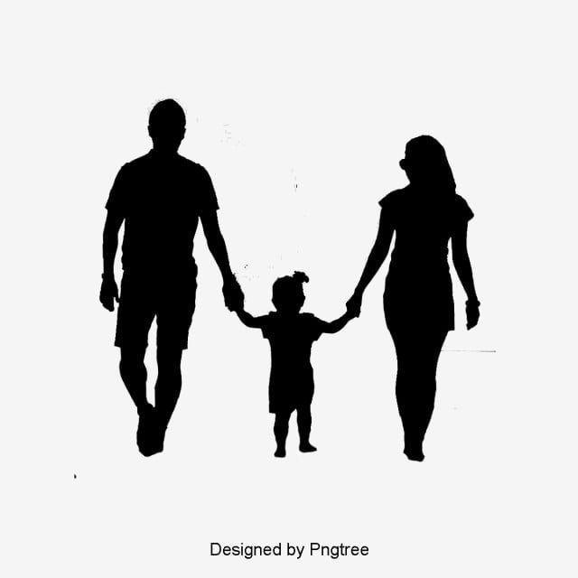 Happy Family Of Four Silhouette Family Clipart A Four Take A Walk Png Transparent Clipart Image And Psd File For Free Download Silhouette Family Family Sketch Family Tattoo Designs
