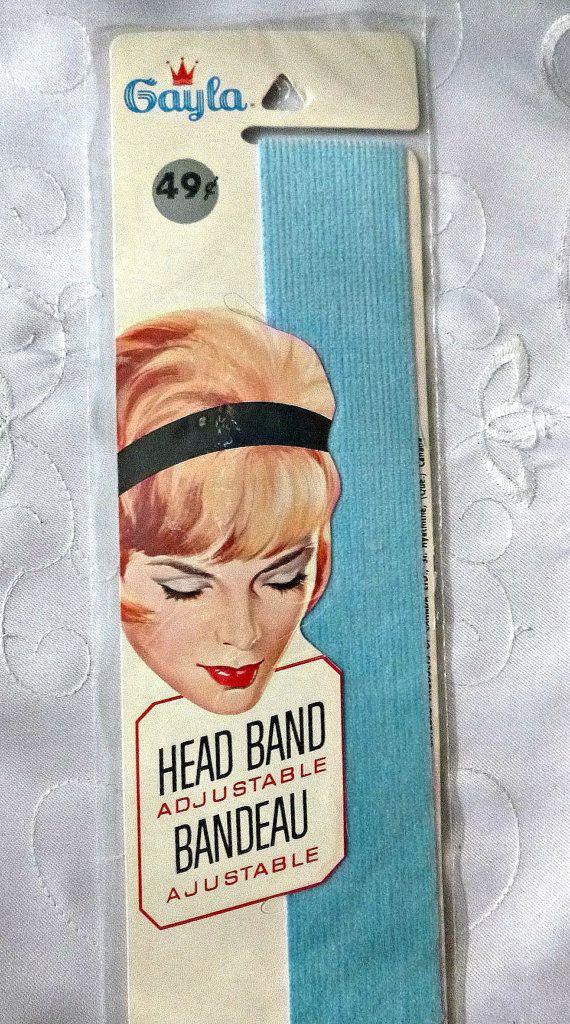 50's Hair Band Baby Blue Vintage by PopcornVintageByTann on Etsy