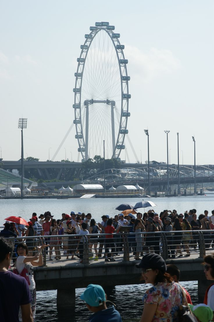 The Singapore Flyer, Singapore. Photographed from Merlion Park, Singapore. October 2011
