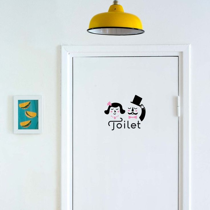 Ladies & Gentlemen Toilet Sign  - Wall Decal by MADE OF SUNDAYS