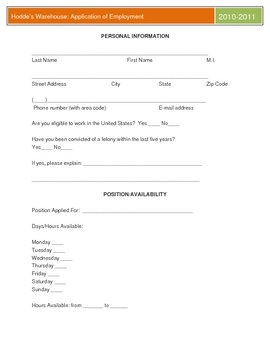 Best Job Applications Images On   Application Form