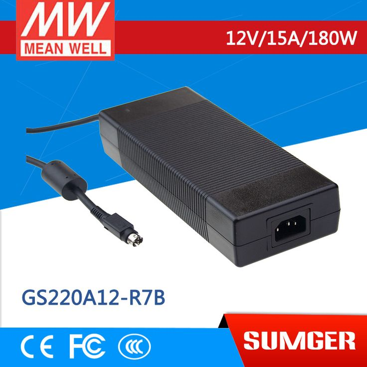 Mean Well Original Gs220a12 R7b 12v 15a Meanwell Gs220a 12v 180w Ac Dc Industrial Adaptor Acdc The Originals Electrical Equipment