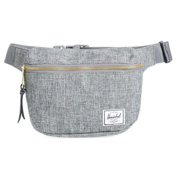 Women's Herschel Supply Co. 'Fifteen' Belt Bag (565 MXN) ❤ liked on Polyvore featuring bags, handbags, shoulder bags, raven crosshatch, belt bag, fanny pack purse, waist bag, hip fanny pack and fanny bag