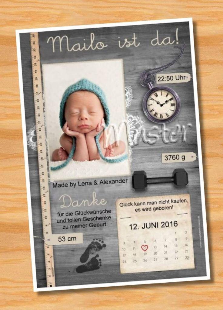 Ausgefallene Dankeskarten Geburt 170 - Bild vergrößern