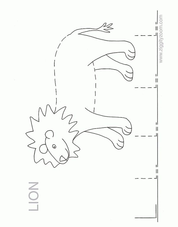 Alphabet Worksheets for Preschoolers | Alphabet tracing Worksheet for practice writing the letter L. L is for ...
