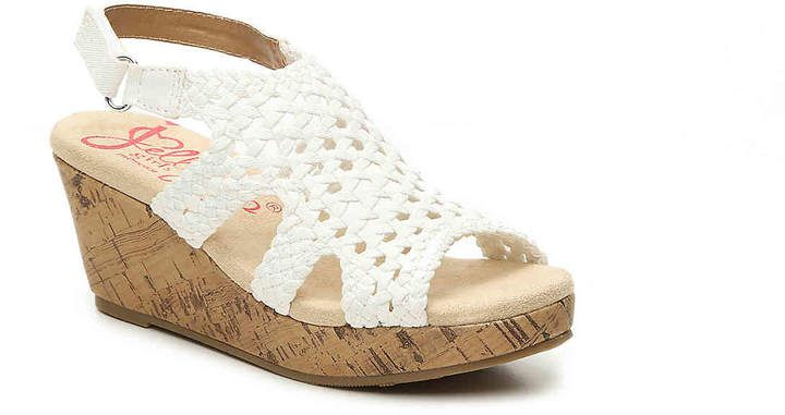 40758e794 Jellypop Girls Turvy Toddler   Youth Wedge Sandal