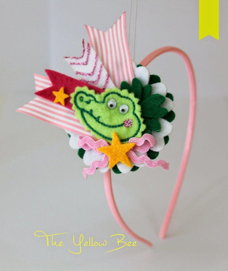 Aligator headband! Handmade headbands, hair accessories & accessories for children! Χειροποίητες κορδέλες μαλλιών , αξεσουάρ μαλλιών και αξεσουάρ για παιδιά!  theyellowbee@yahoo.gr