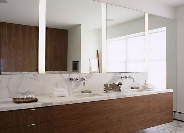 clean lines of marble and wood
