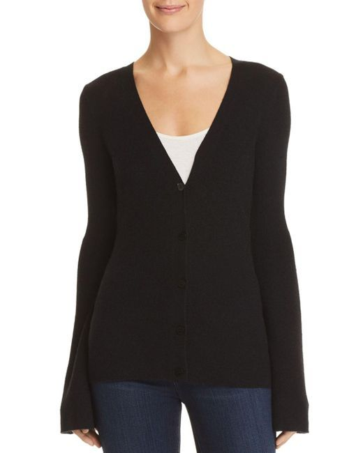1a9747c7464 Theory - Black Flared-sleeve Cashmere Cardigan - Lyst