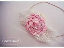 Hair band Lace and Roses made ​​by Edith Stuff http://pl.dawanda.com/product/50807146-Opaska-do-wlosow-kokardy-i-roze