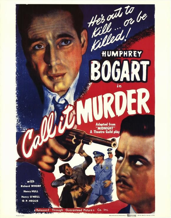Call It Murder (1934) Originally released as Midnight, it is the story of a jury foreman whose vote sends a young woman to the electric chair for a murder she committed. His beliefs are tested when hi