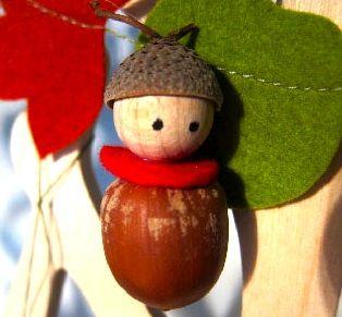 acorn doll. Acorn nut craft idea.