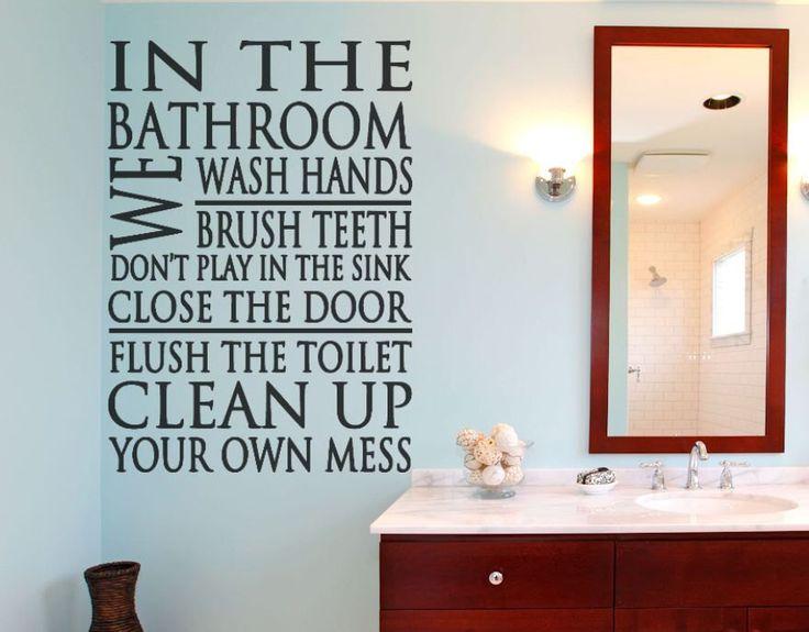 Bathroom Rules   Wall Decal   Bathroom Decor  Wall Sticker   Wall Decals   Bathroom