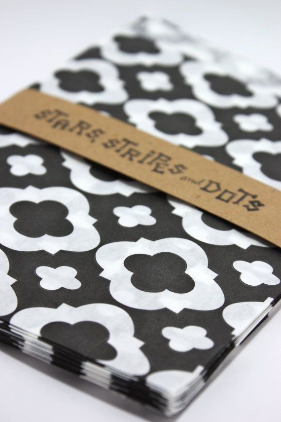 Paper bags party black and white damask by StarsStripesAndDots, €2.99