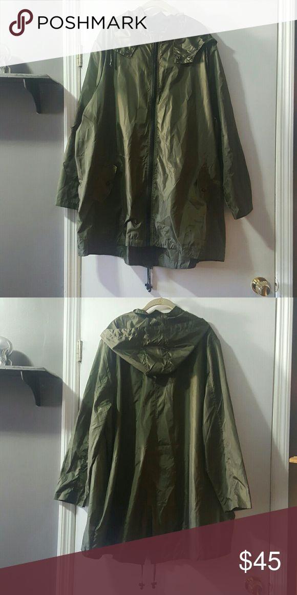 ASOS CURVE - Olive Green Rain Jacket ASOS CURVE - Olive Green Rain Jacket, Lightweight ASOS Curve Jackets & Coats Utility Jackets