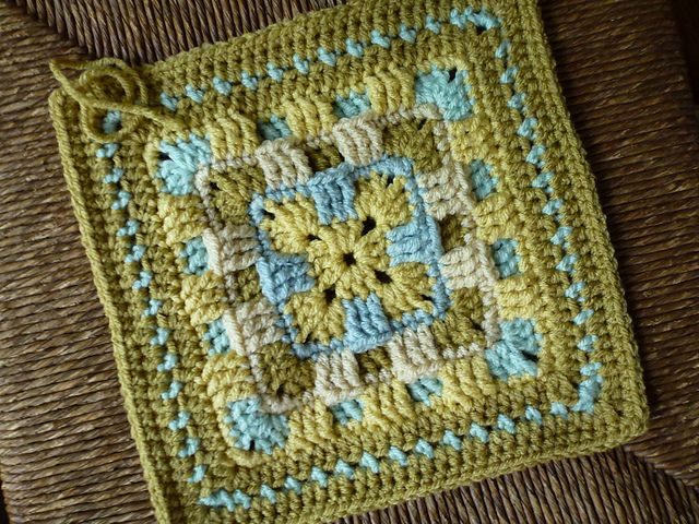 Ravelry:  Brighter Daze Square. Pattern available Free on Ravelry.