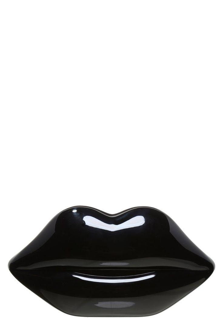 Lulu Guinnes LIPS Kopertówka usta czarna black