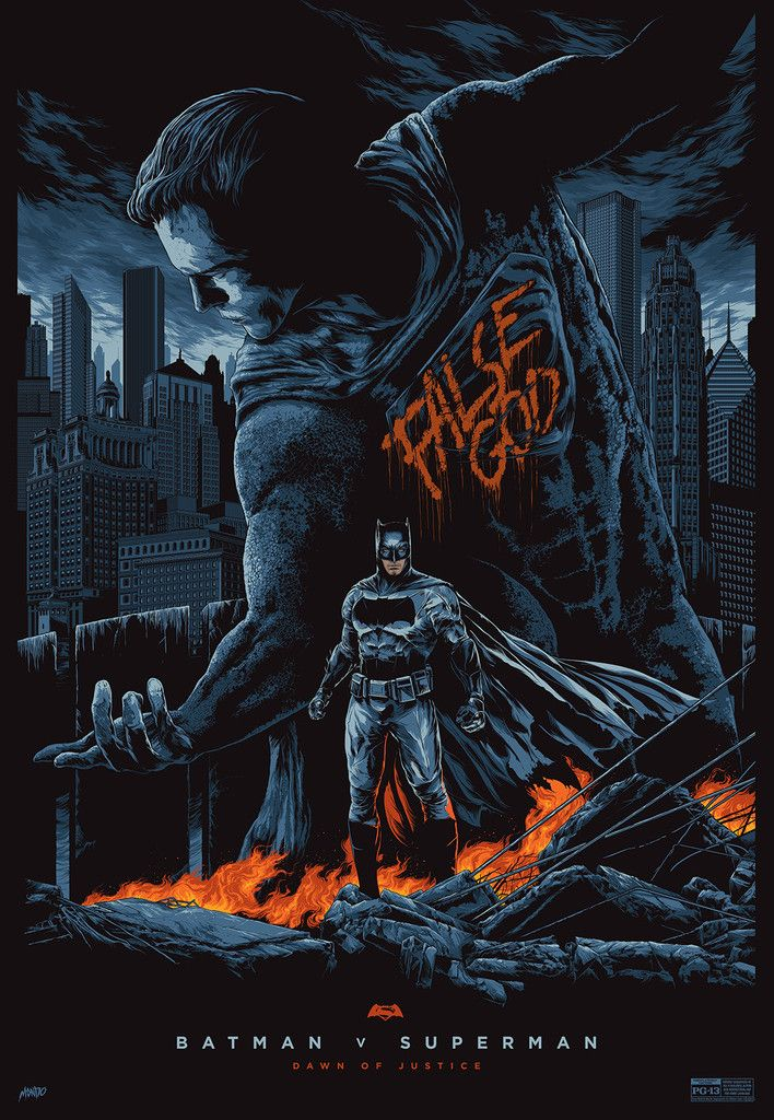 Mondo póster de Batman v Superman: El Amanecer de la Justicia (2016)