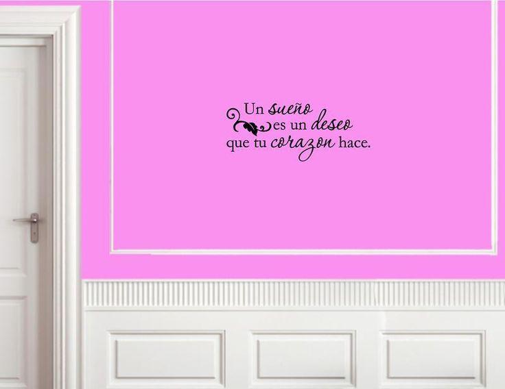 Goedkope Spaanse muur citaten un sueno es un deseo que tu corazon op muurtattoo sticker, koop Kwaliteit muurstickers rechtstreeks van Leveranciers van China:  Deze sticker is precisie gestanst van hoogstaande, zelfklevende rug en is klaar aan te kleden uw autoruit, auto,