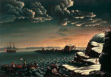 """""""Landing of the Pilgrims"""" by Michele Felice Corne, c. 1805.  Displayed in the White House."""