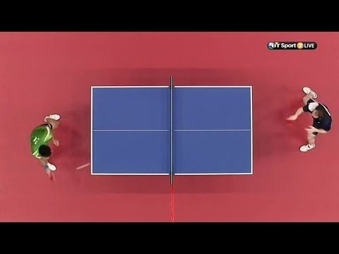 Paul Drinkhall in the mens singles table tennis Bronze medal match (Full Reply)