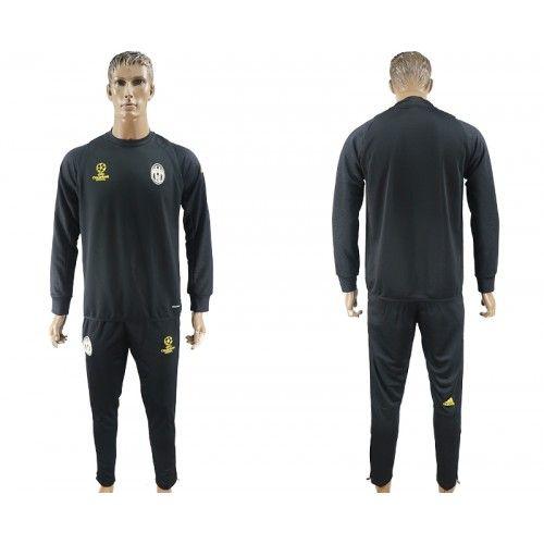 2017-2018 Fußball Trikot Juventus F.C Champions League Training Suit Schwarz Trikotsatz