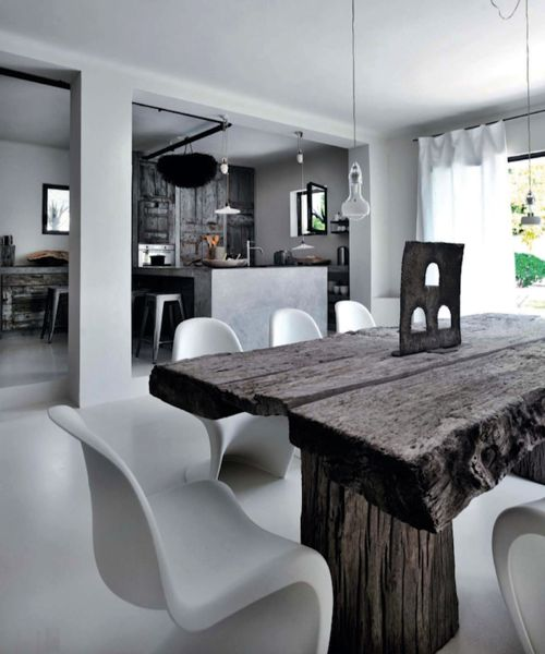 Dining Room At Amelies Home Photography ByHenri Del Olmo