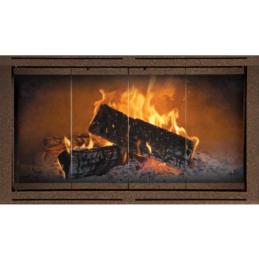 The Heritage Fireplace Door for Heatilator Fireplaces - Bi-fold tracked doorsor Bi-fold full swing trackless doors