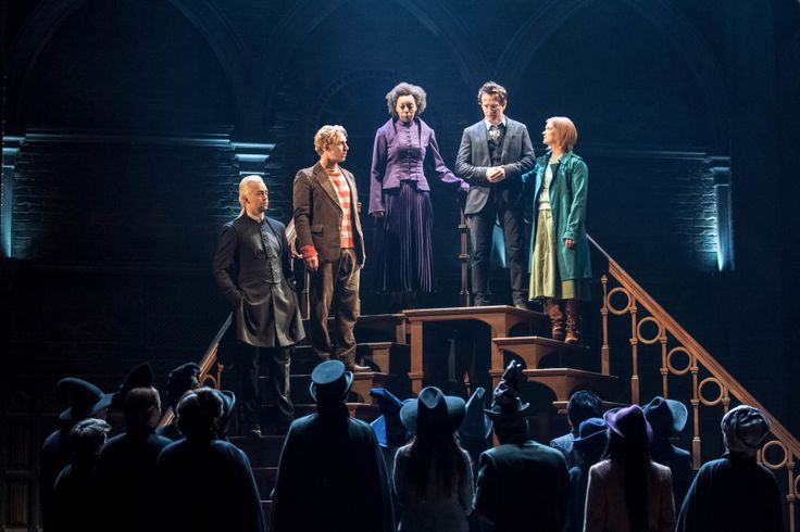 Alex Price, Paul Thornley, Noma Dumezweni, Jamie Parker, and Poppy Miller in <i>Harry Potter and the Cursed Child</i>.