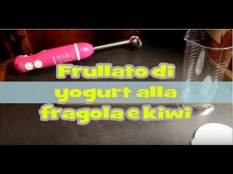 Frullato di yogurt alla fragola e kiwi