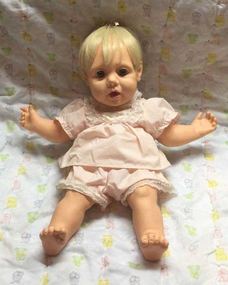 Real Baby Baby Doll 80 S Doll Toy Baby Doll Pink Dress