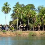 Khong Island at 4000 Islands or Si Phan Don