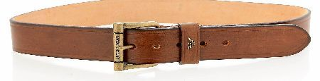 Armani Jeans Brown Leather Belt Armani Jeans Brown Leather Belt a wide belt made from 100% leather in brown with 5 size holes and a large metal buckle. There is a small Armani Jeans emblem on the belt loop and Armani Jeans in engrav www.comparestorep...