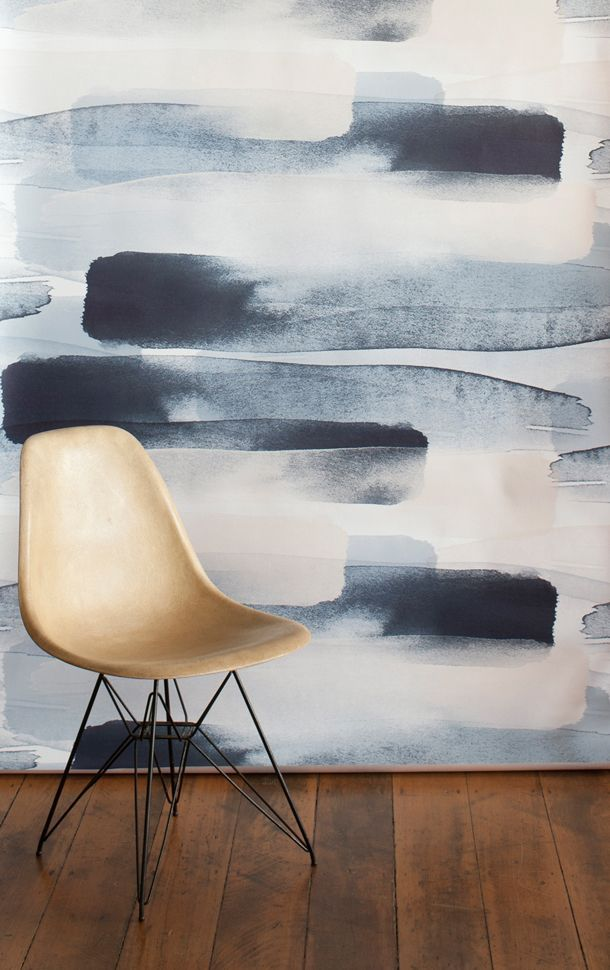 This fun #wallpaper is inspired by #watercolor paintbrush strokes