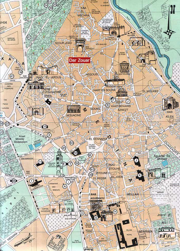 Plan Marrakech medina