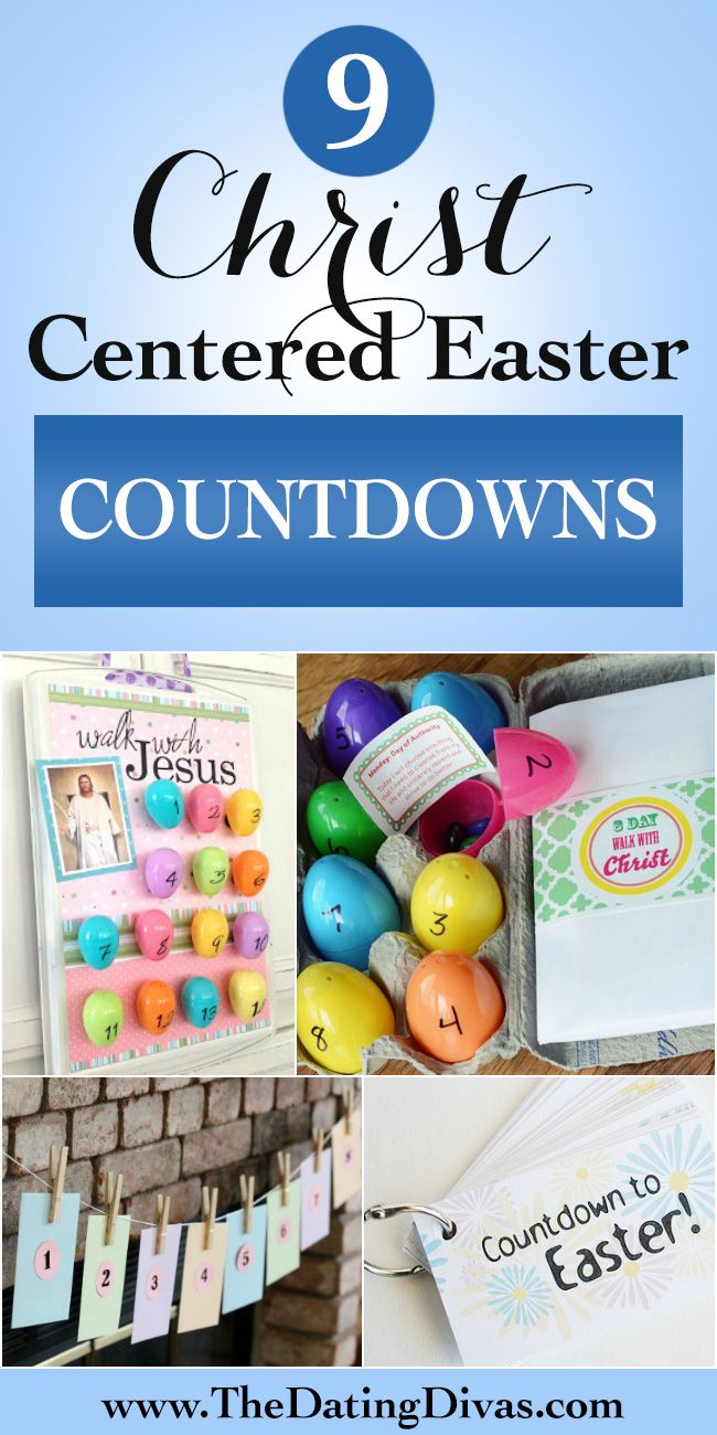 Christ-Centered Easter Countdowns- these are great.  Better get started!!