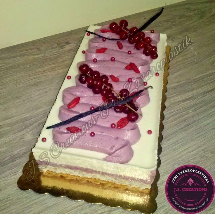 Περί Ζαχαροπλαστικής : Biscuit Vanilla with White Chocolate Mousse and cr...